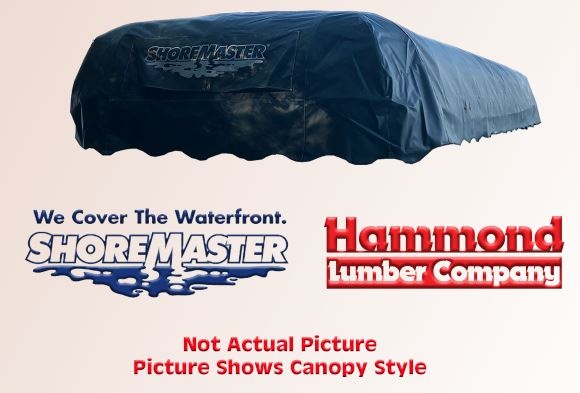 "ShoreMaster 13' x 64"" Used Mallard/Forest Green Canopy Cover"