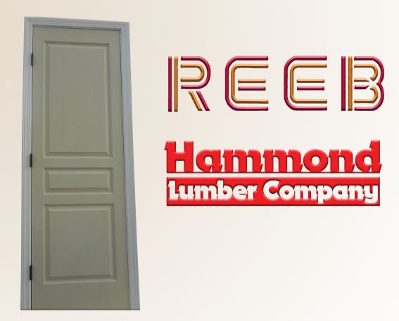 Reeb 2/2 x 6/8 Avalon Style 3 Panel Hollow Core Textured Interior Door