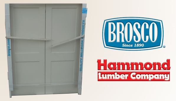 Brosco 5/0 x 6/6 Monroe 2 Panel Style Smooth, Solid Core Interior Double Door