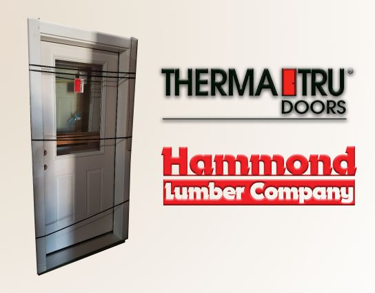 Therma-Tru 3/0 x 6/8 S-206 1/2 Lite Smooth Star Fiberglass Exterior Door