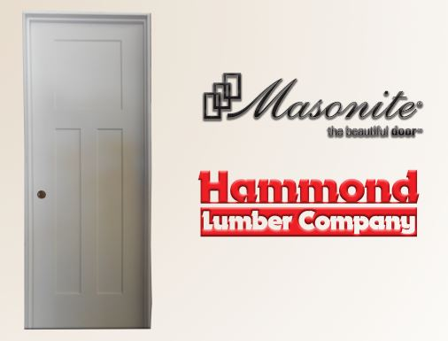Masonite 2/6 x 6/8 Winslow Style 3 Panel Interior Door