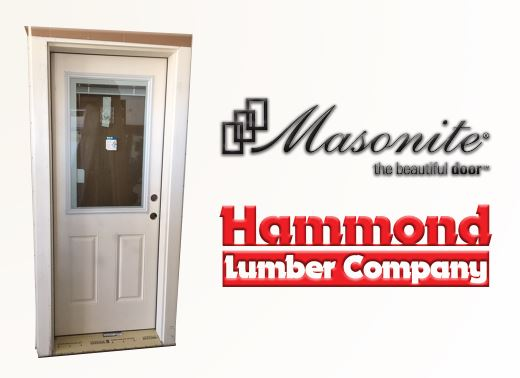Masonite 2/8 x 6/8 Belleville Smooth Fiberglass Exterior Door