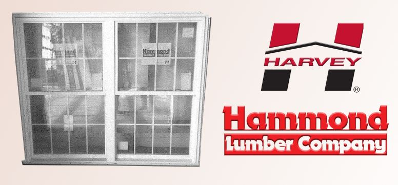 Harvey #34310-2 White Vinyl Classic Double Hung Mullion Windows