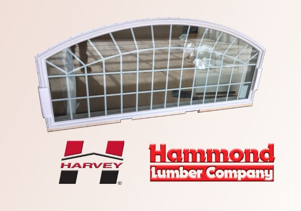 Harvey White Vinyl Extended Segmental Eyebrow Window For Sale