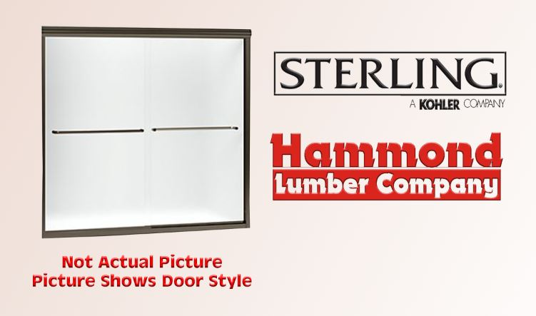 Sterling Finesse Frameless Sliding Shower Door