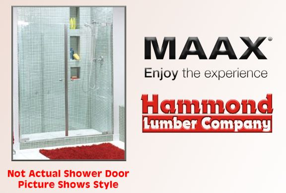 Maax Kleara #136449-900-105 Clear Panel Shower Door