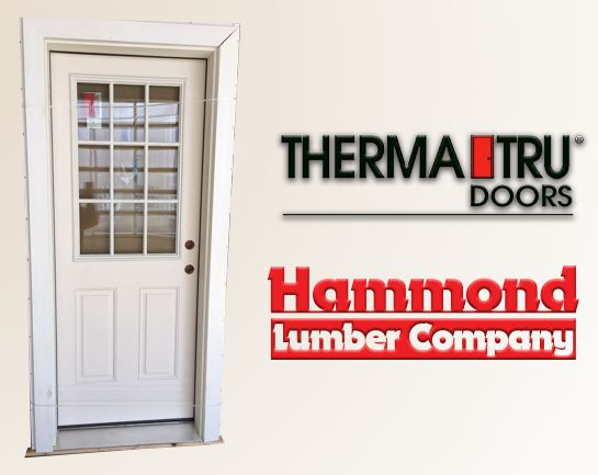 Therma-Tru 2/8 x 6/8 S262-FXGLE Smooth Star Fiberglass Exterior Door
