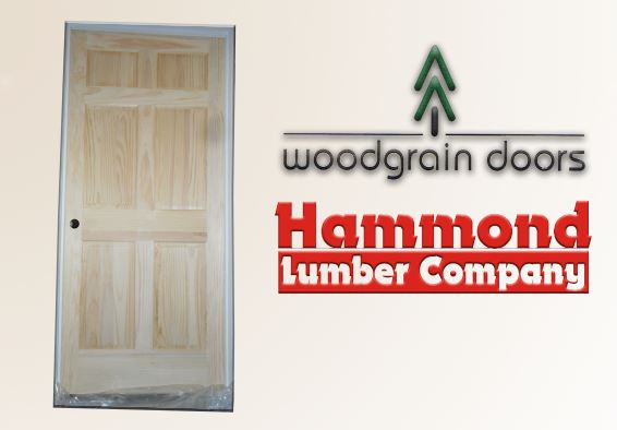 Huttig Woodgrain 3/0 x 6/8 - 6 Panel Radiata Pine Interior Door