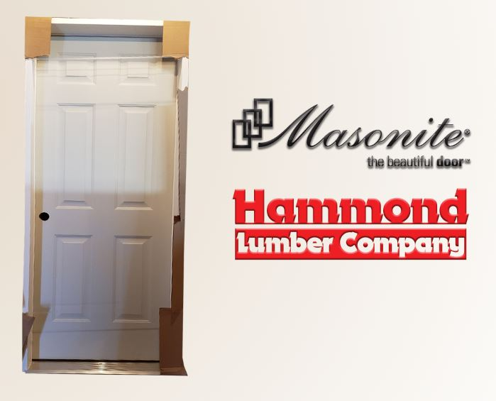 Masonite 2/6 x 6/8 TS-210 6 Panel 20 Minute Fire Rated Interior Door