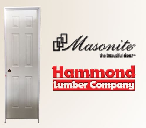 Masonite 2/0 x 6/8 - 6 Panel Solid Core Interior Door