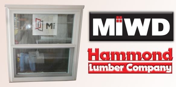 MIWD Series #1555 White Vinyl Double Hung Window
