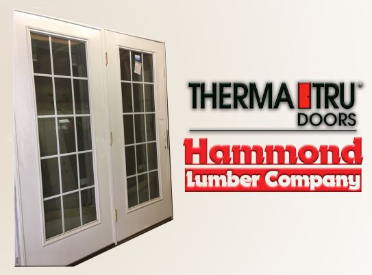 Therma-Tru 6/0 x 6/8 S-108GBGCWLE Smooth Star Patio Door