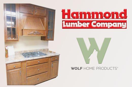 Wolf Westbury Oak Saddle Kitchen Cabinet Display Hammond Lumber